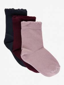 Bilde av Creamie 3pk sokker, Rosa/Burgunder/Sort